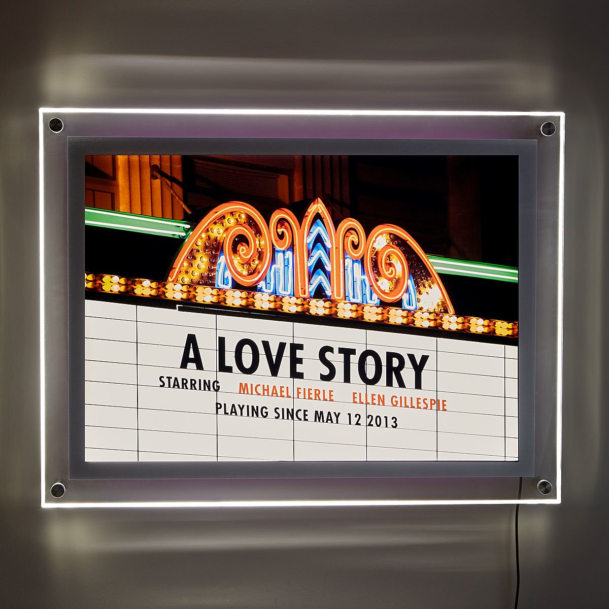 Personalized Movie Marquee Illuminated Art | UncommonGoods