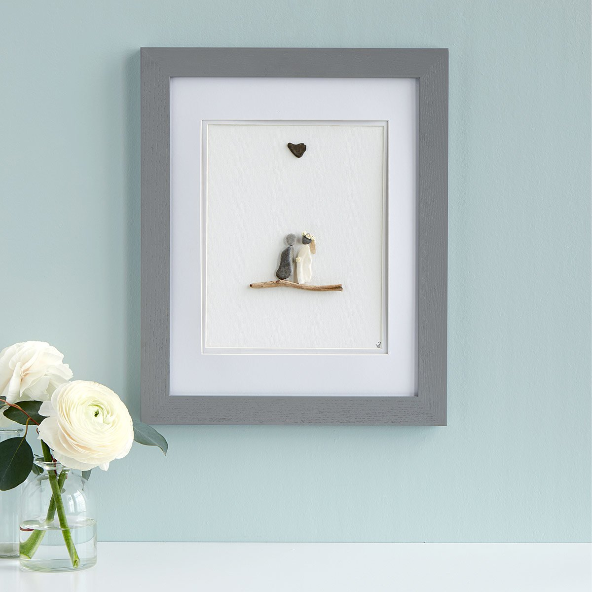 Wedding Pebble Portrait | UncommonGoods