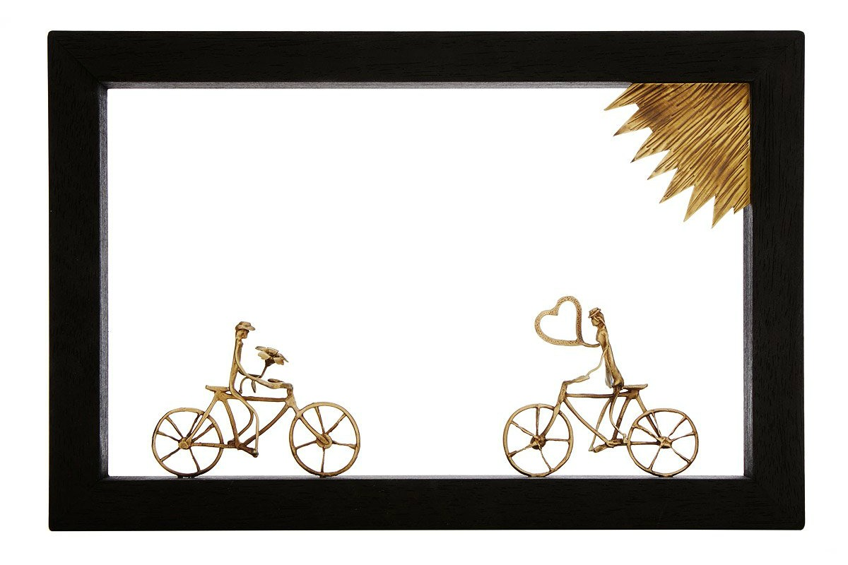 Bike Lovers Wall Sculpture | UncommonGoods