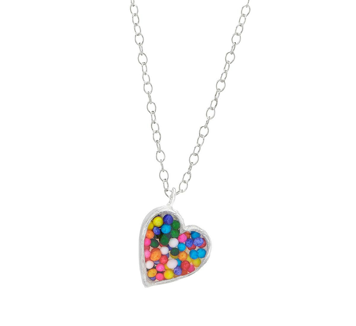 Sprinkles Heart Necklace | UncommonGoods