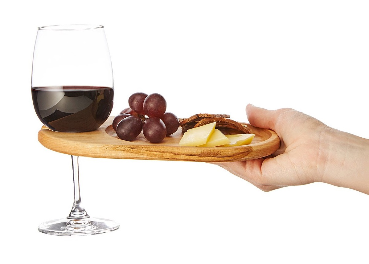 Wine & Appetizer Tray - Set of 4 | UncommonGoods