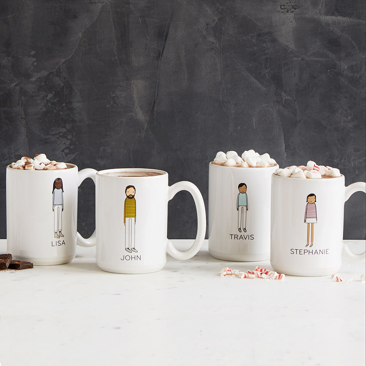 Personalized Family Mugs Ceramic Custom Artwork Uncommon Goods