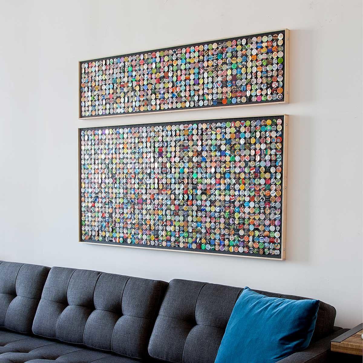 Recycled Aluminum Moving Mosaic   UncommonGoods