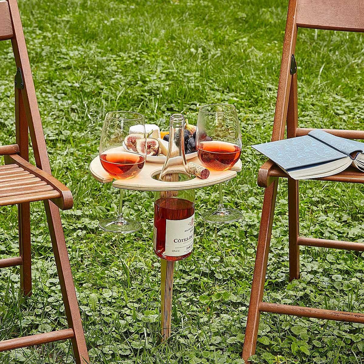 Outdoor Wine Table | UncommonGoods