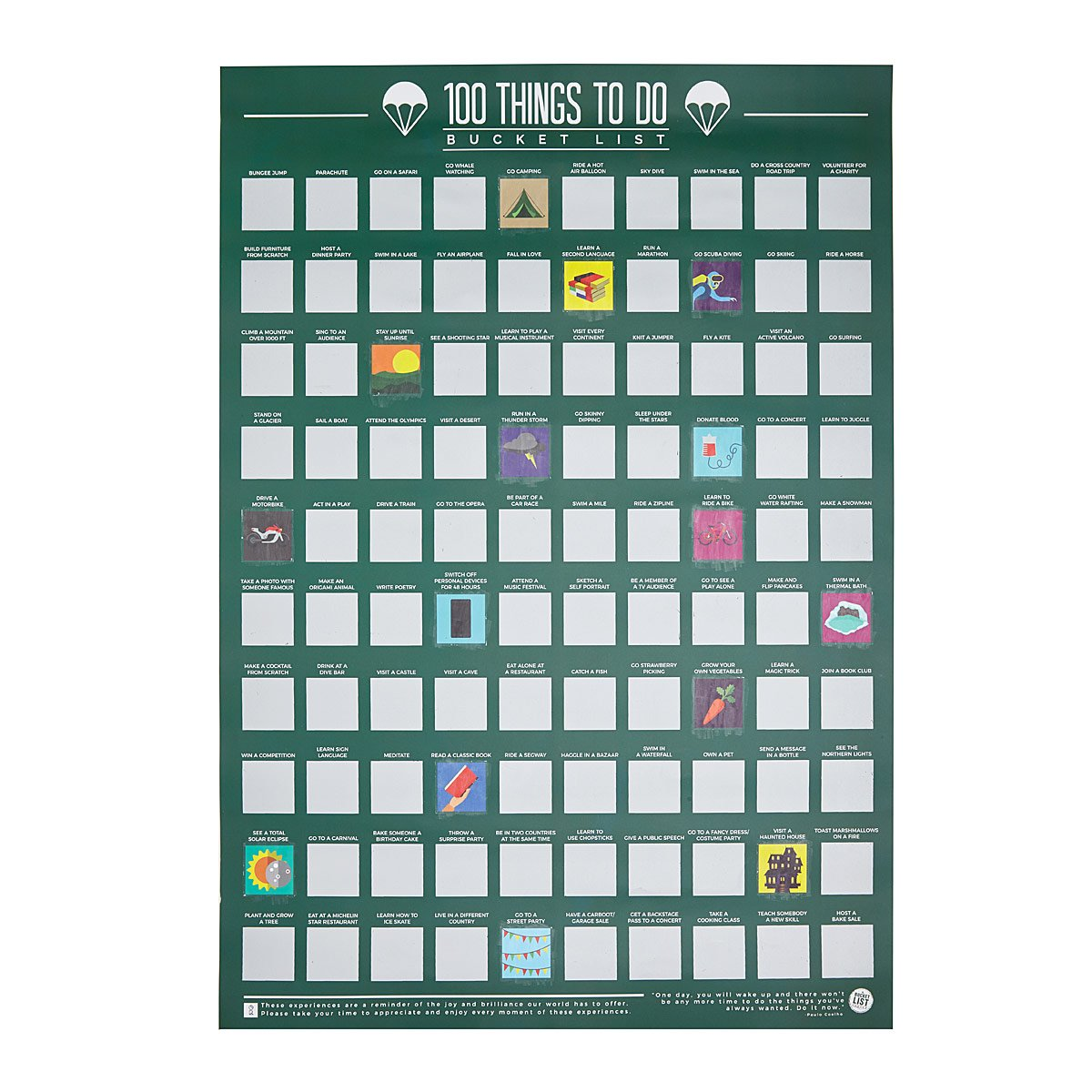 100 Things to Do Scratch Off Poster | UncommonGoods