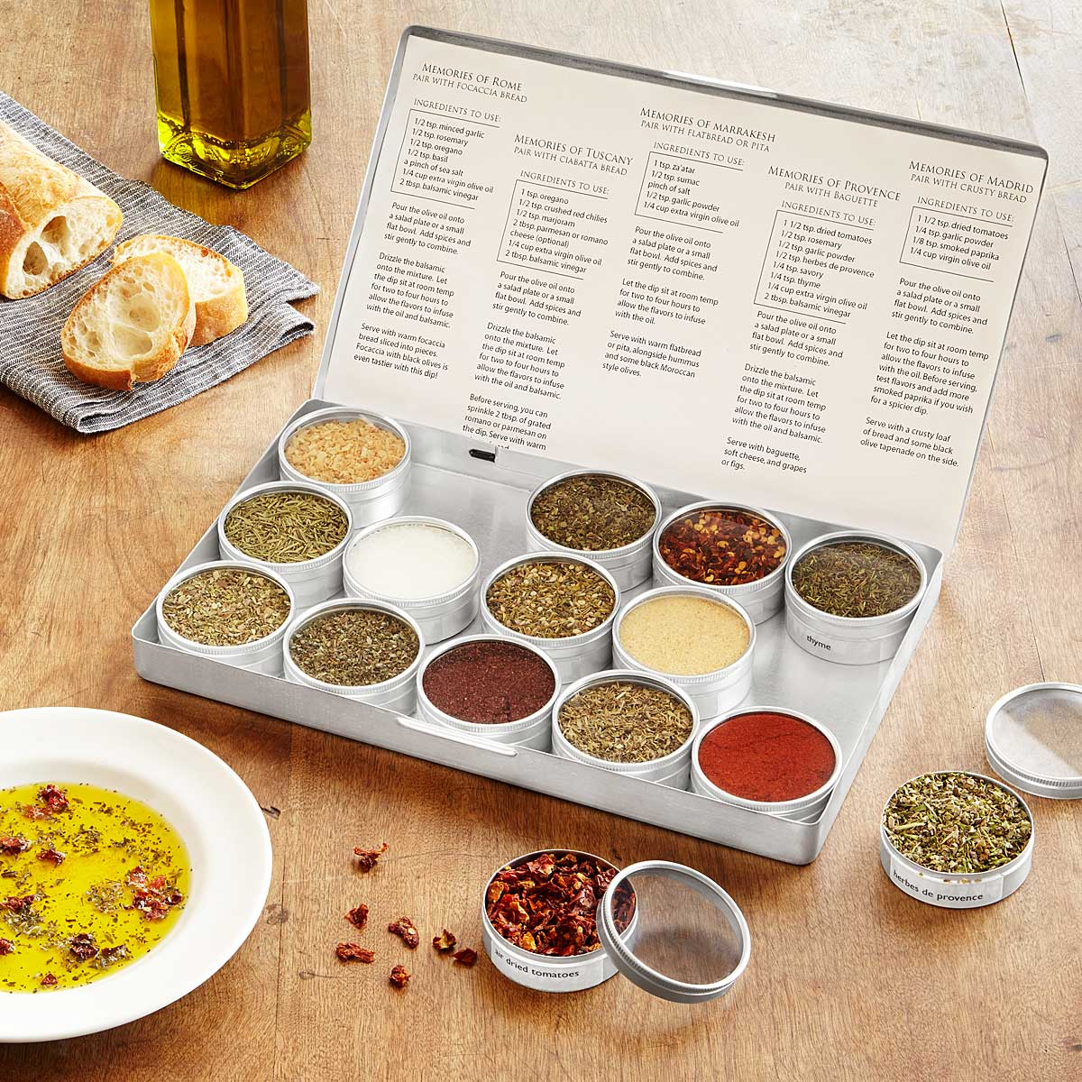 Gourmet Oil Dipping Spice Kit | UncommonGoods