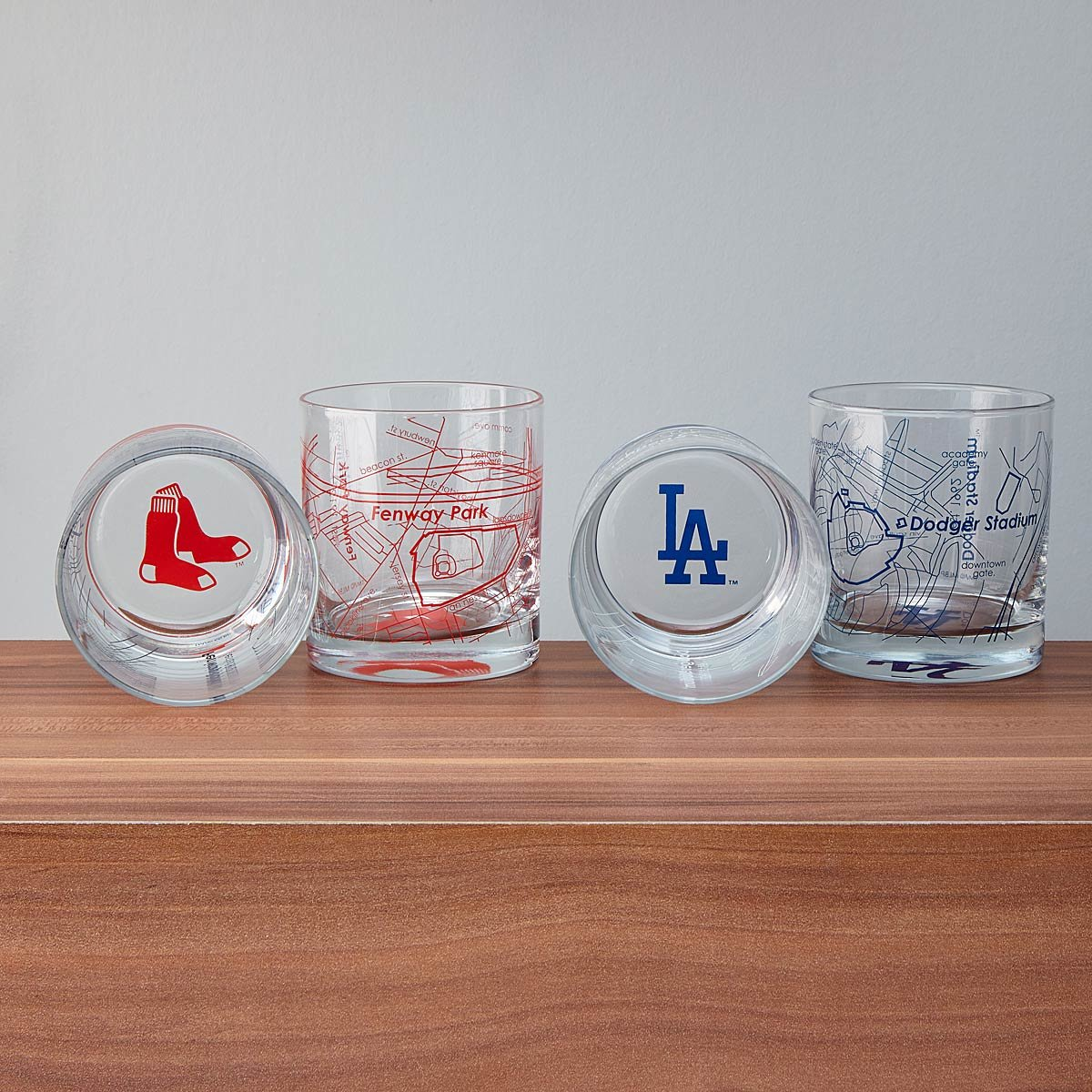 Baseball Park Map Glasses - Set of 2 | UncommonGoods