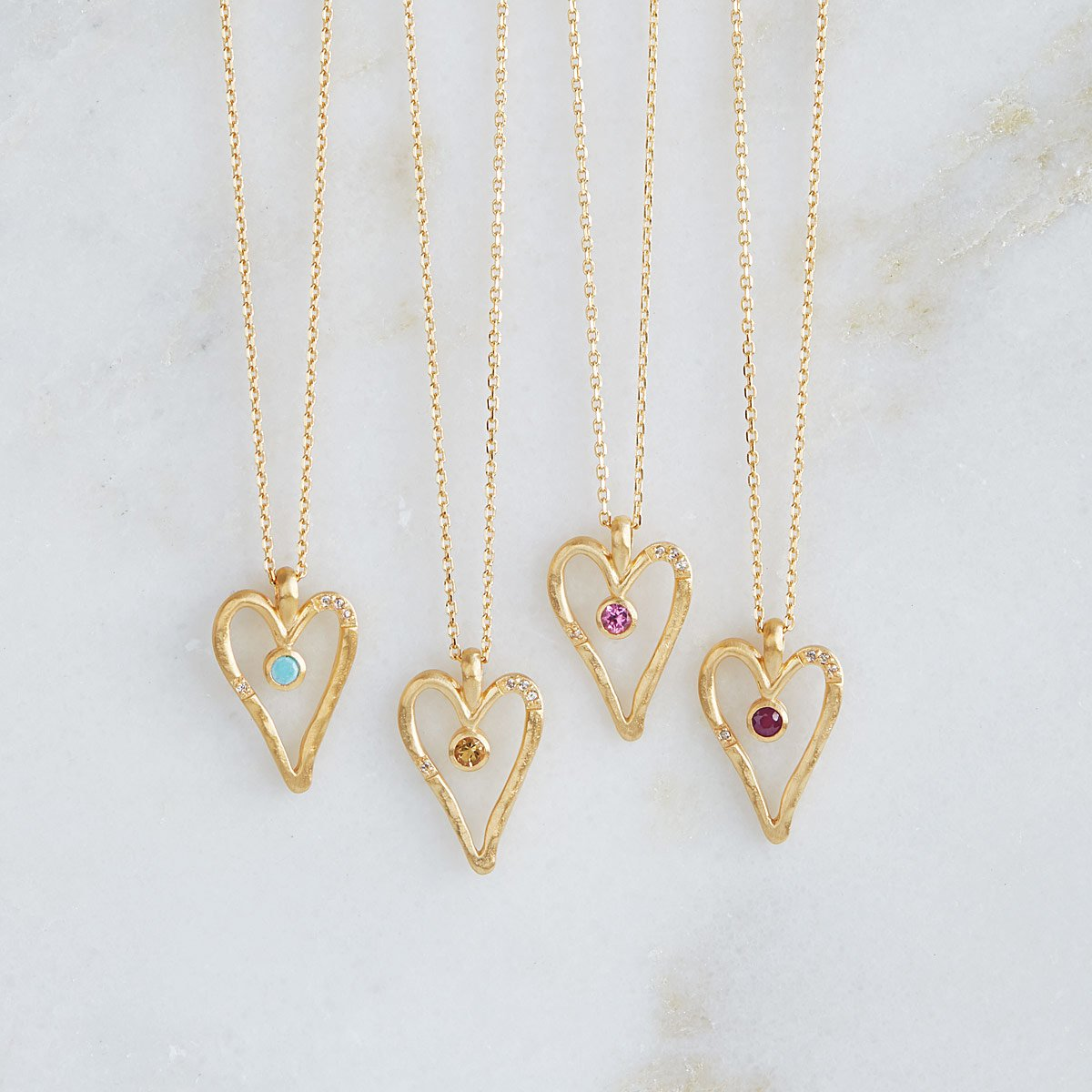 Birthstone Heart Necklaces | UncommonGoods