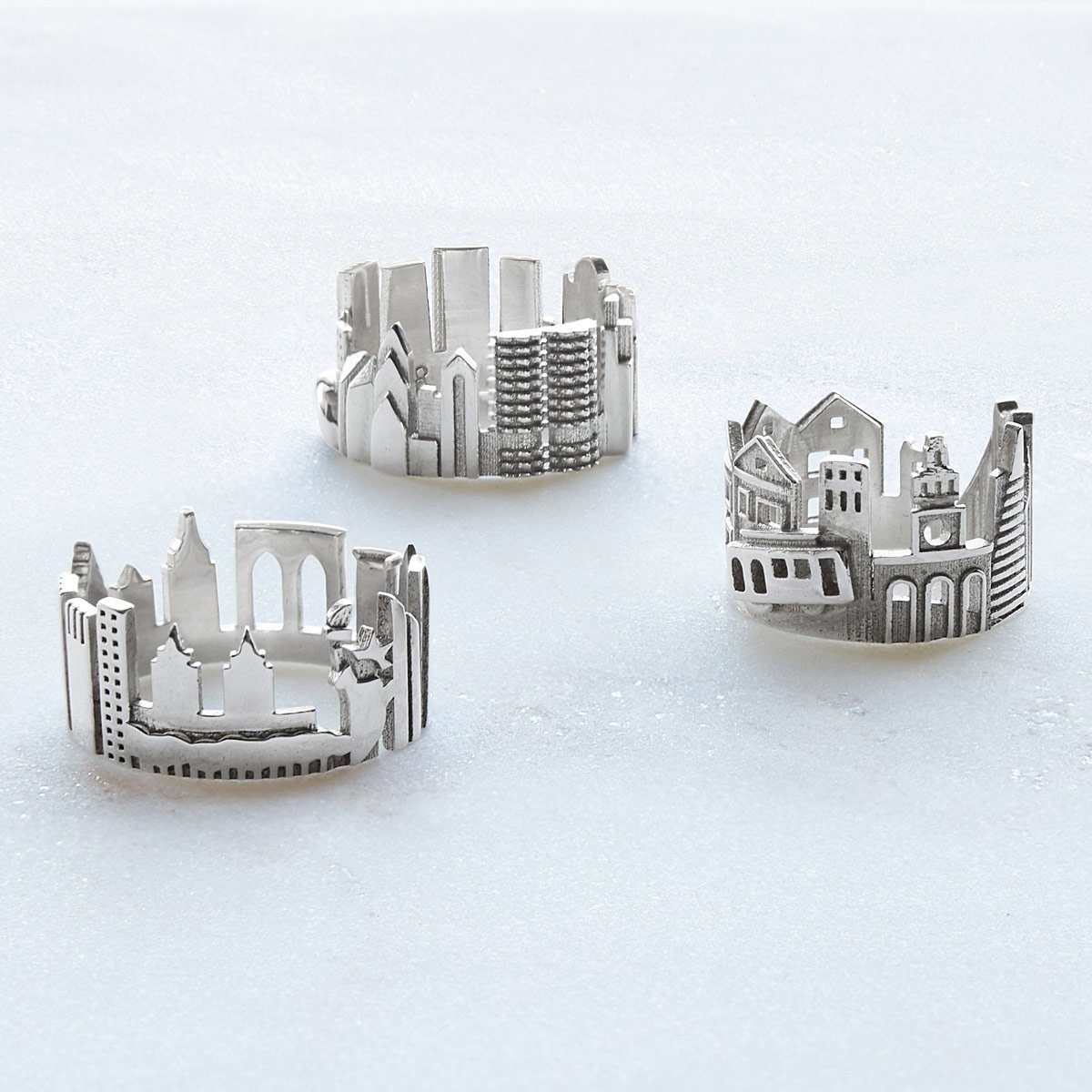 Cityscape Rings | UncommonGoods