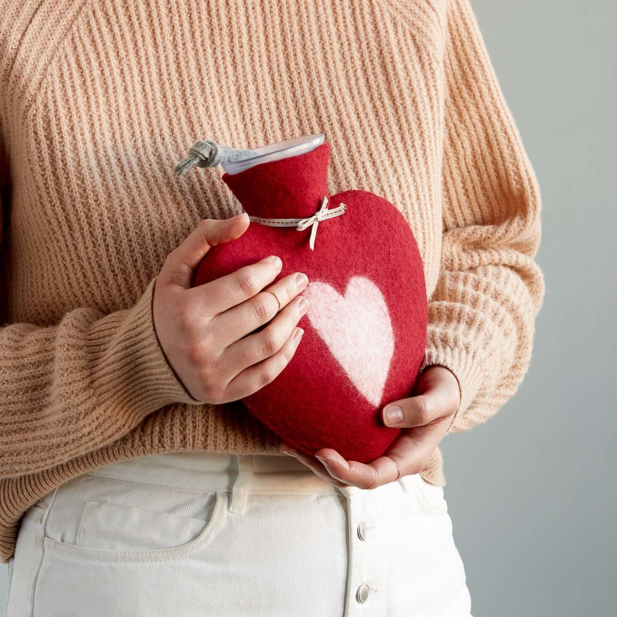 Cozy Heart Hot Water Bottle | UncommonGoods