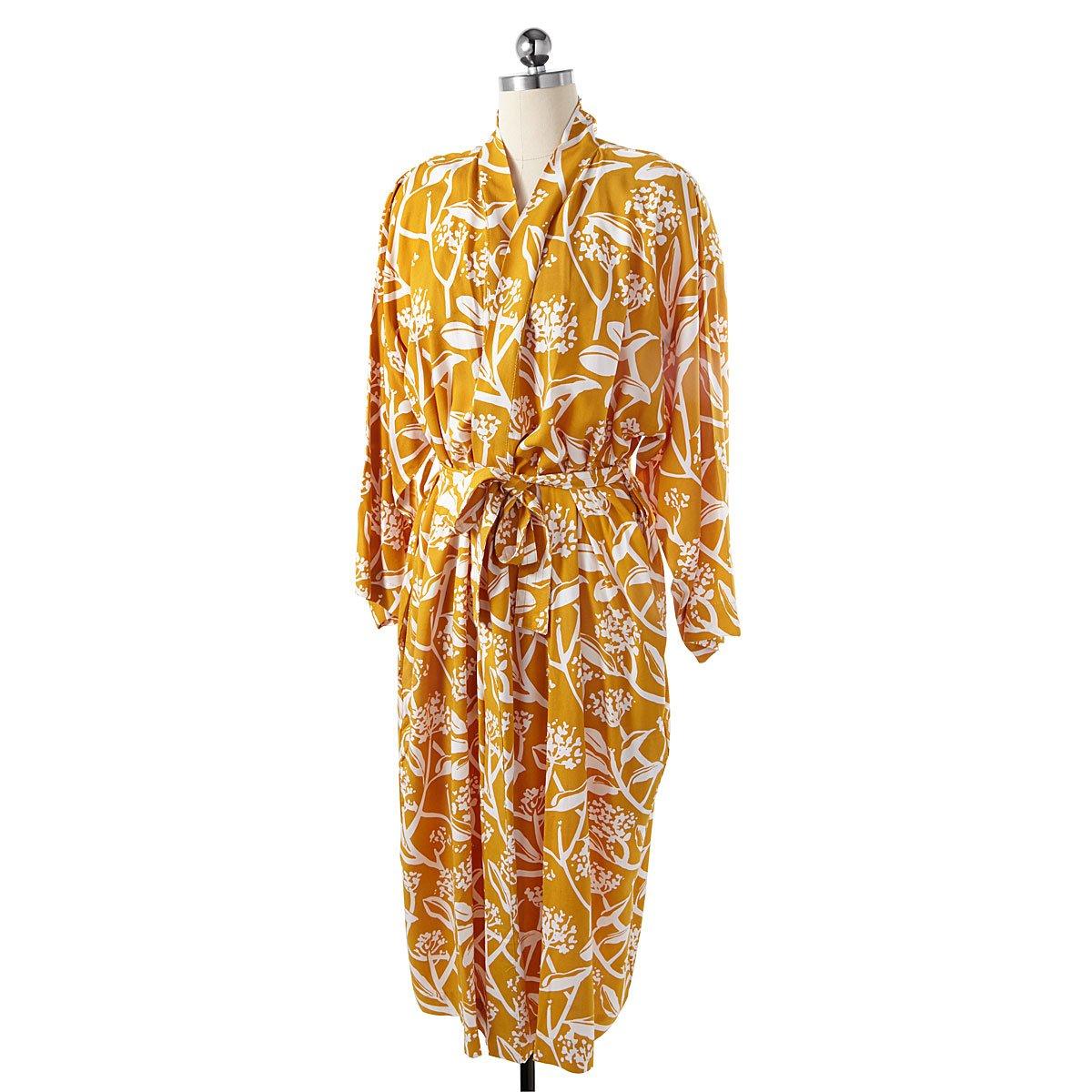 Golden Floral Kimono Robe | UncommonGoods