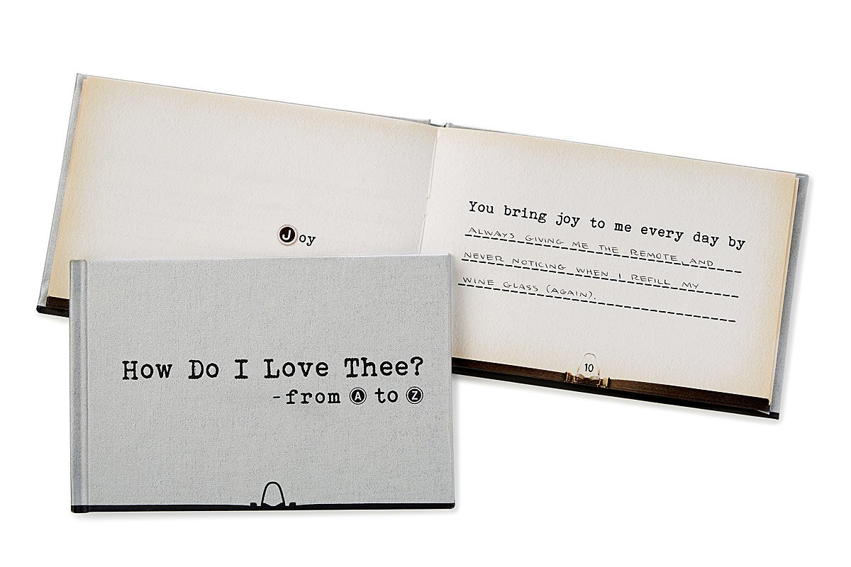 How Do I Love Thee from A-Z | UncommonGoods