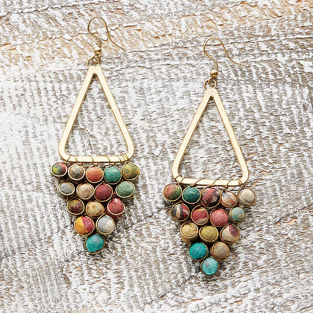 Kantha Chandeliers Earrings | UncommonGoods