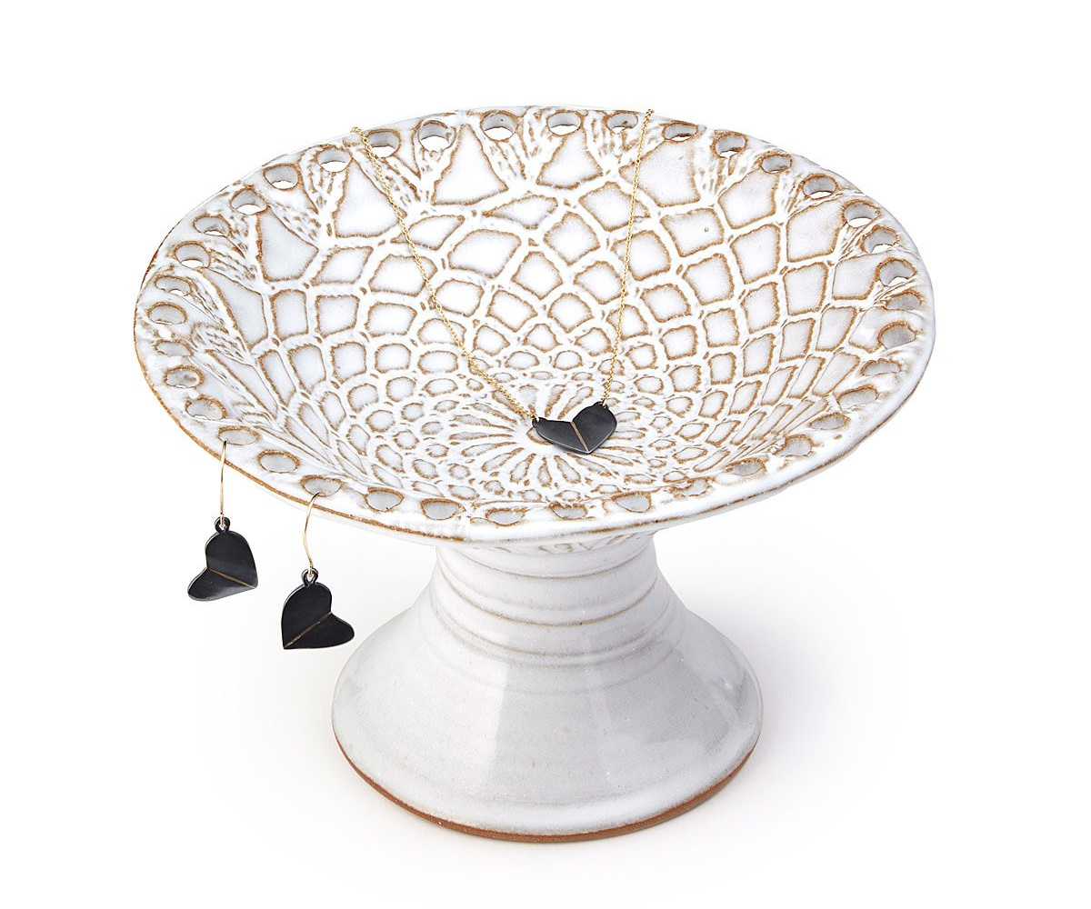 Lace Pedestal Jewelry Holder | UncommonGoods