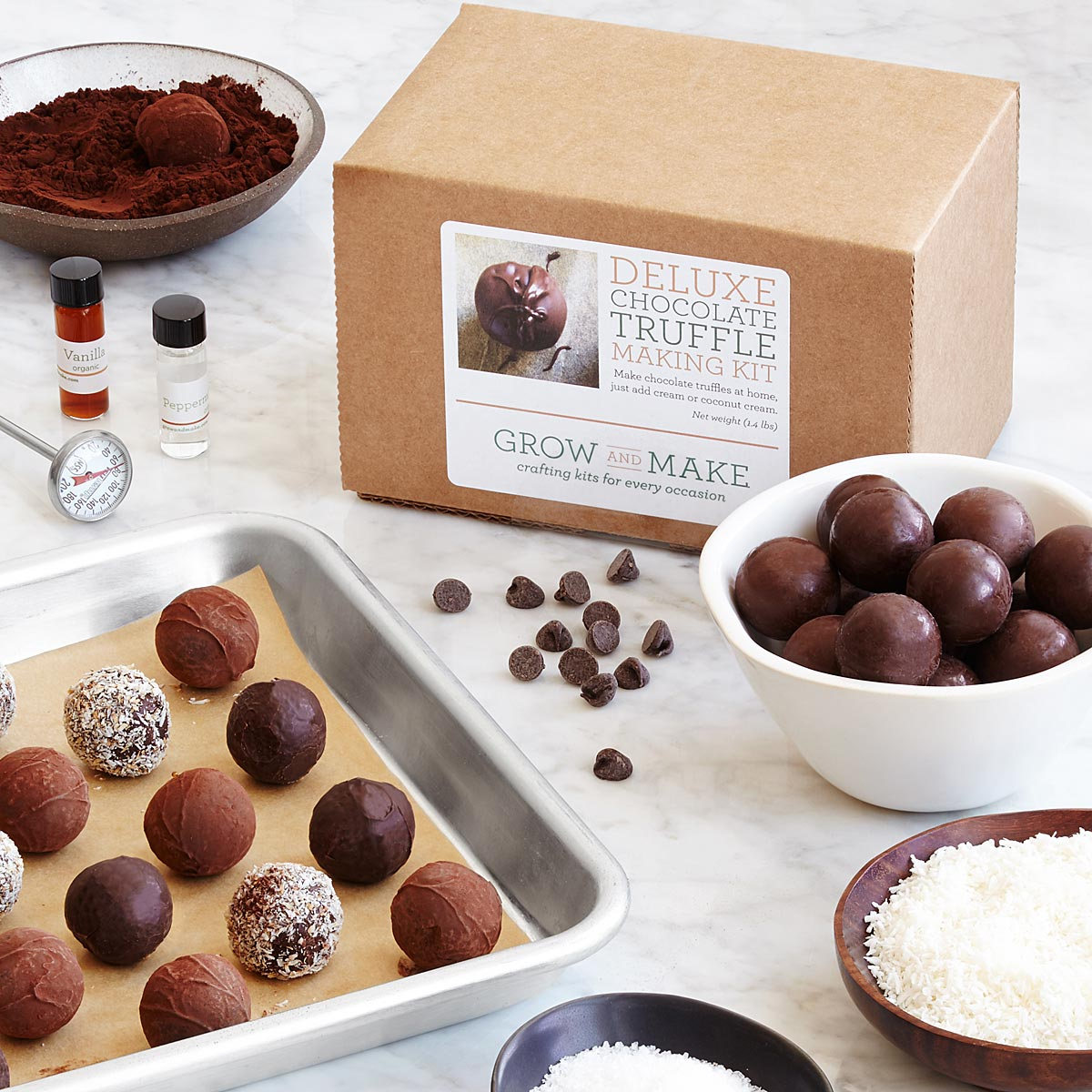Make Your Own Chocolate Truffles Kit | UncommonGoods