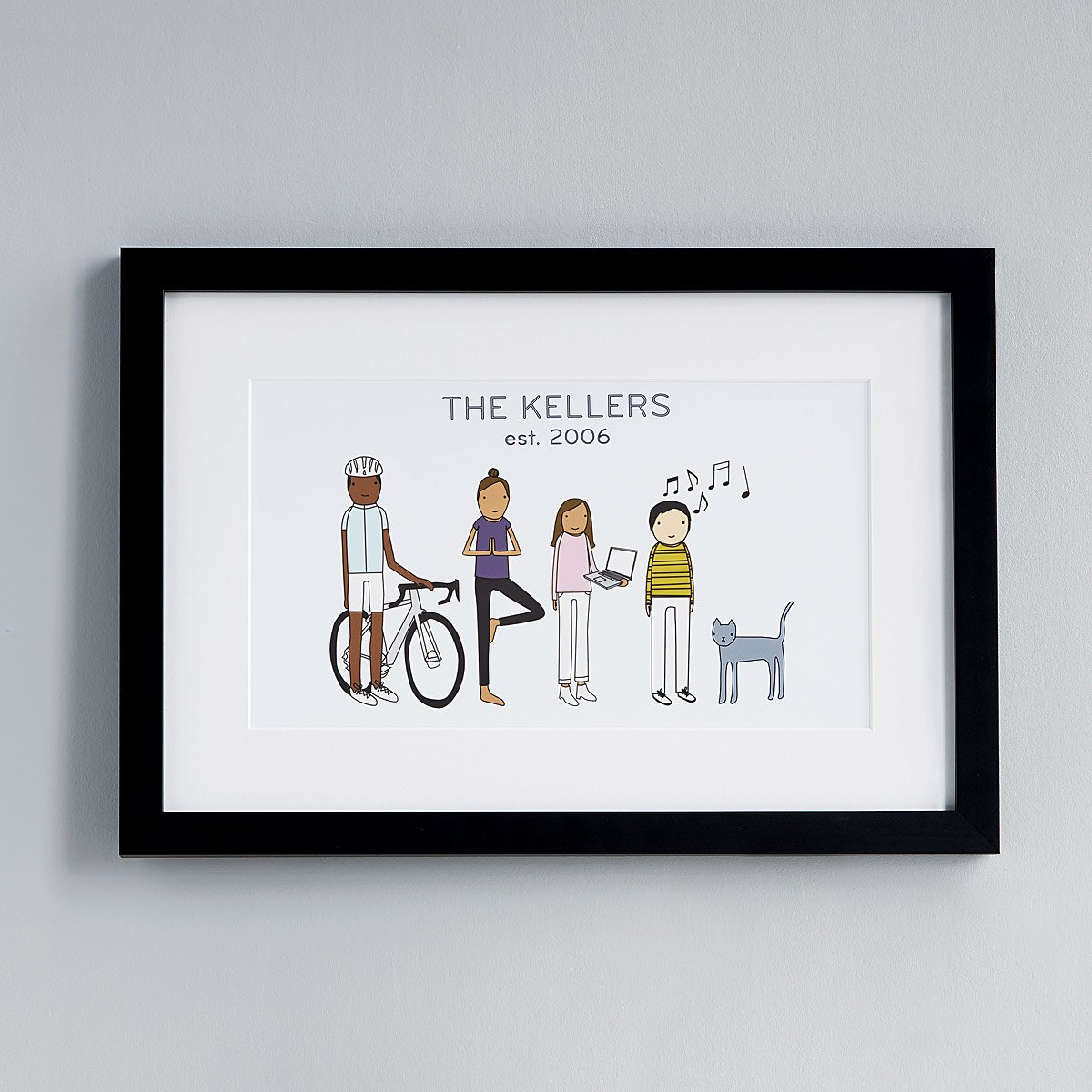 Personalized Family Hobby Art | UncommonGoods