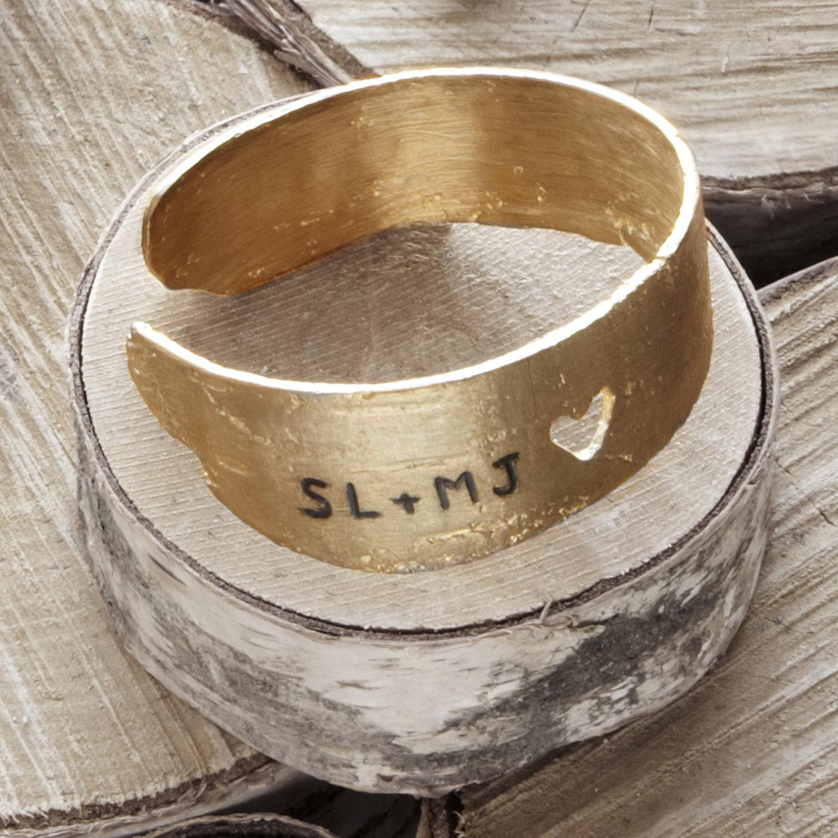 Personalized Love Birch Cuff | UncommonGoods