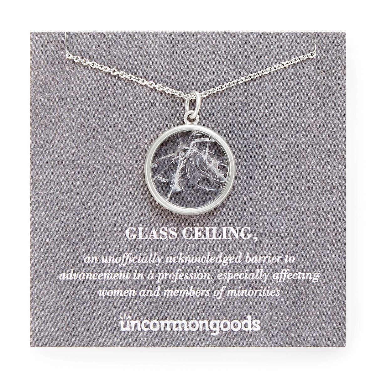 Shattered Glass Ceiling Necklace | UncommonGoods