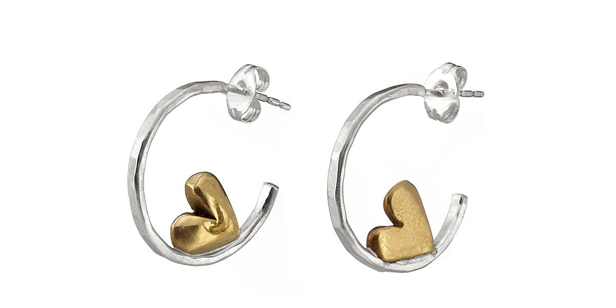 Sleepy Heart Hoop Earrings | UncommonGoods
