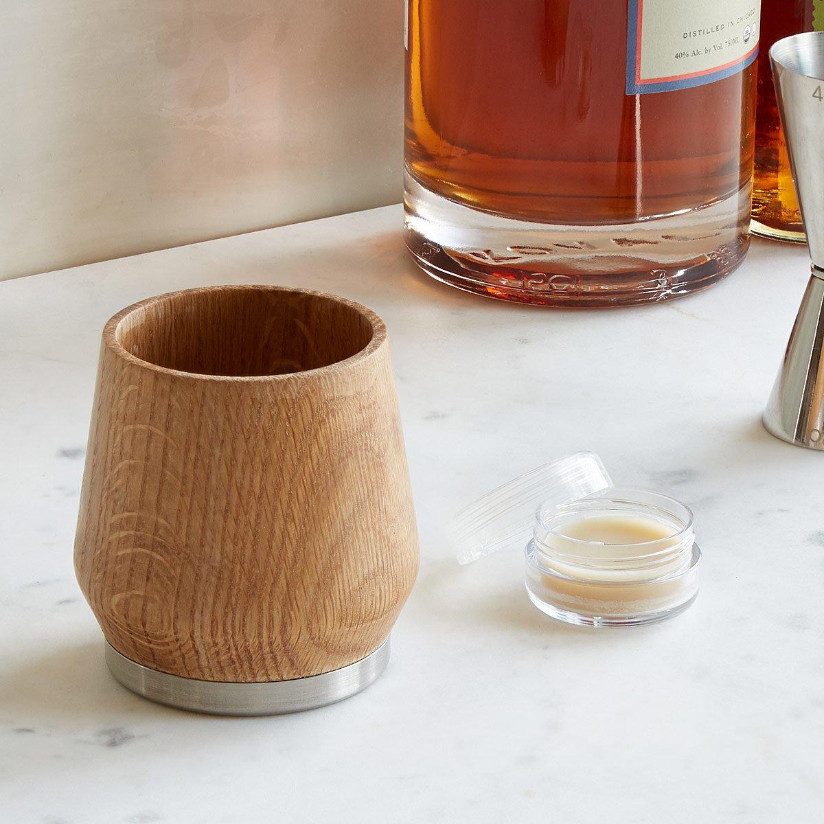 Whiskey-Enhancing Oak Honey Tumbler | UncommonGoods