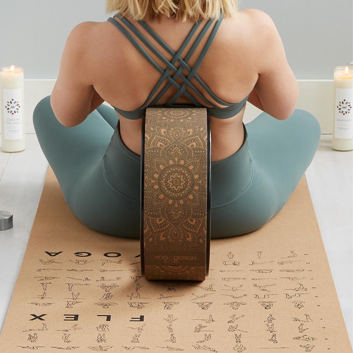 Cork Yoga Wheel | UncommonGoods
