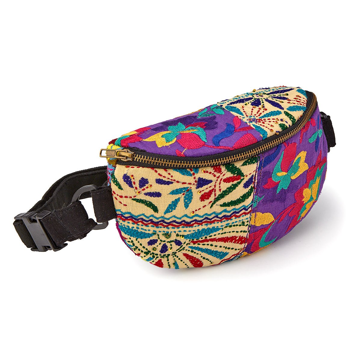 Upcycled Textiles Waist Pack | UncommonGoods