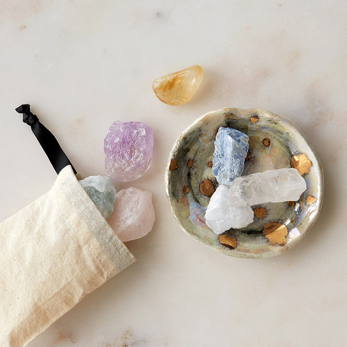 Crystal Set With Intention Tray | UncommonGoods