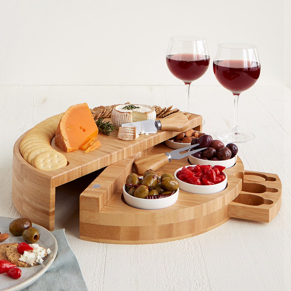 Compact Swivel Cheese & Tapas Board | UncommonGoods