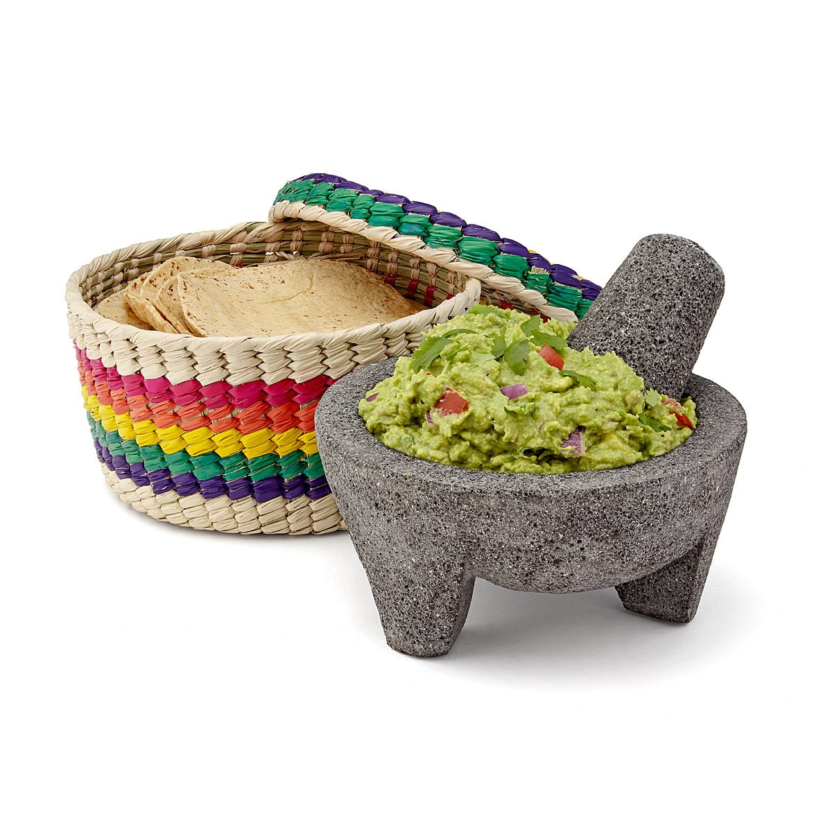Molcajete with Tortilla Basket | UncommonGoods