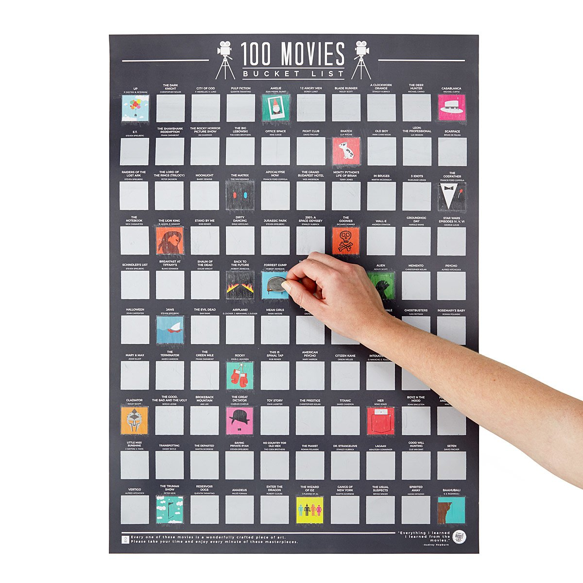100 Movies Scratch Off Poster | UncommonGoods