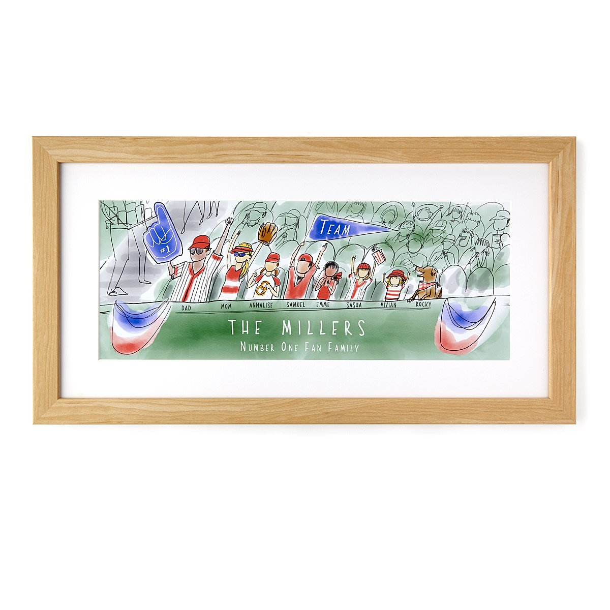 Personalized Fan Family Art - Baseball | UncommonGoods