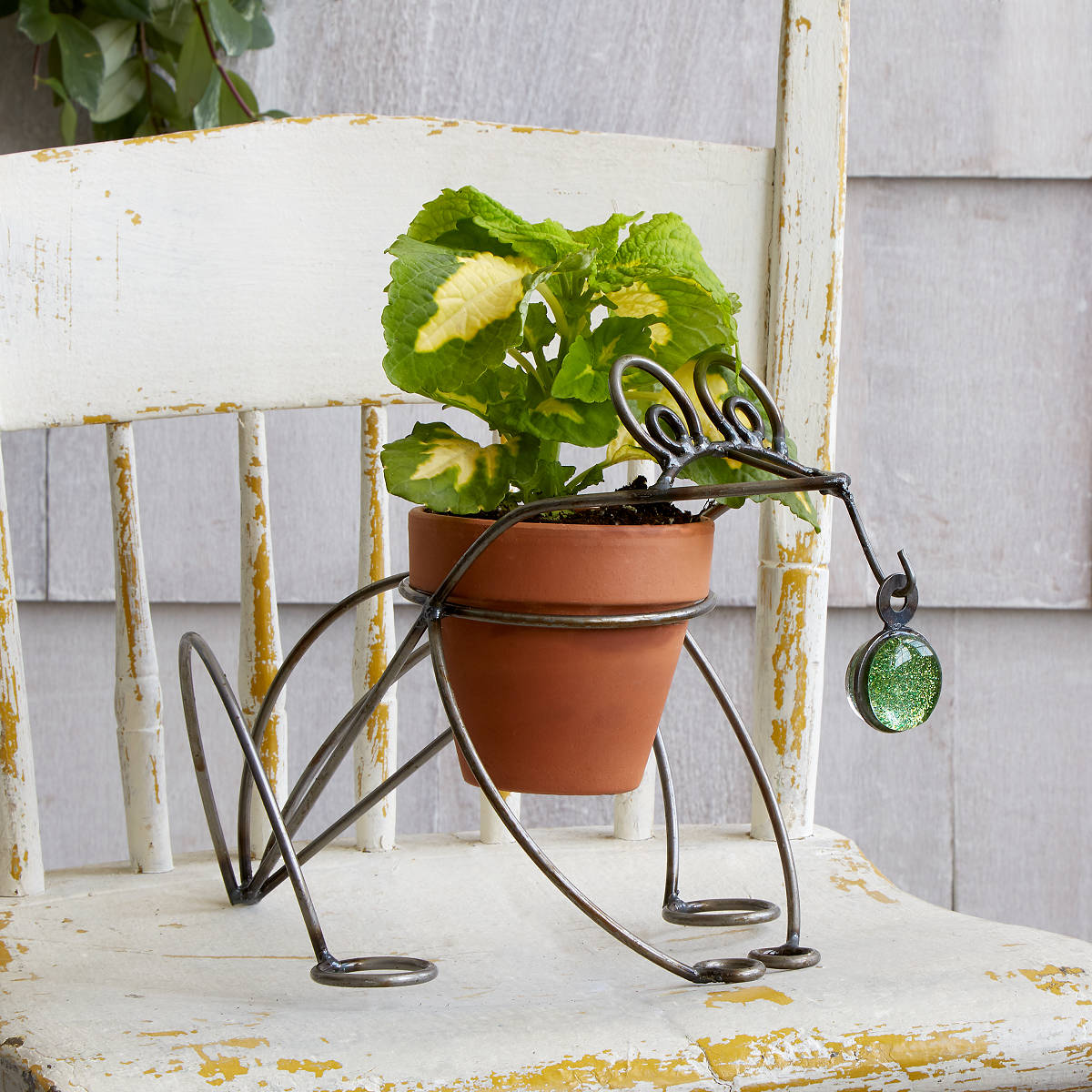 Metal Frog Planter | UncommonGoods