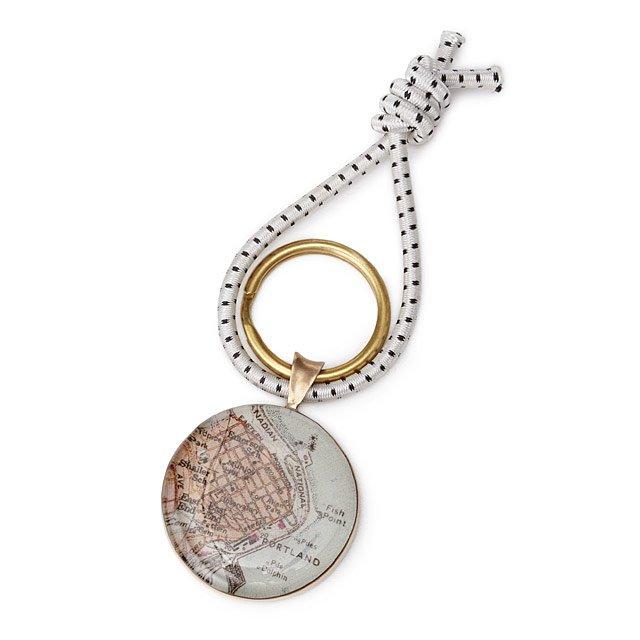 Bronze Custom Map Key Ring | Uncommon Goods