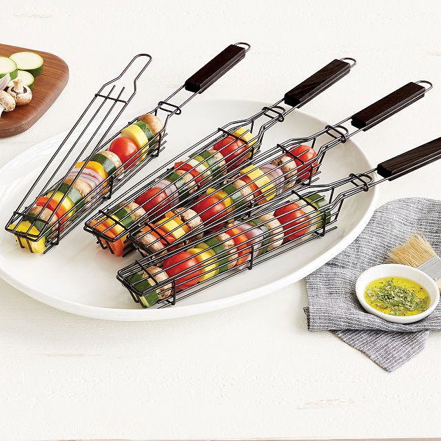 Kabob Grilling Baskets | Uncommon Goods