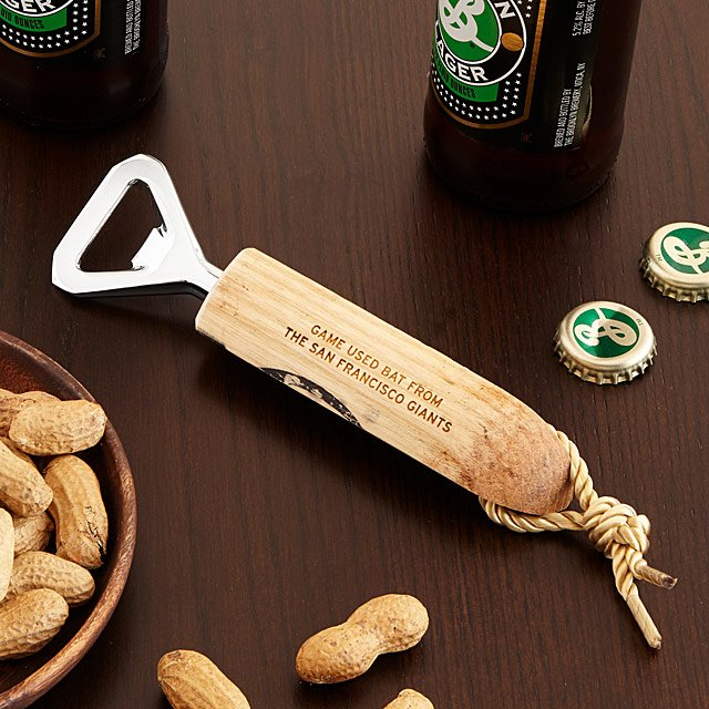 MLB Game Used Baseball Bat Bottle Openers | Uncommon Goods