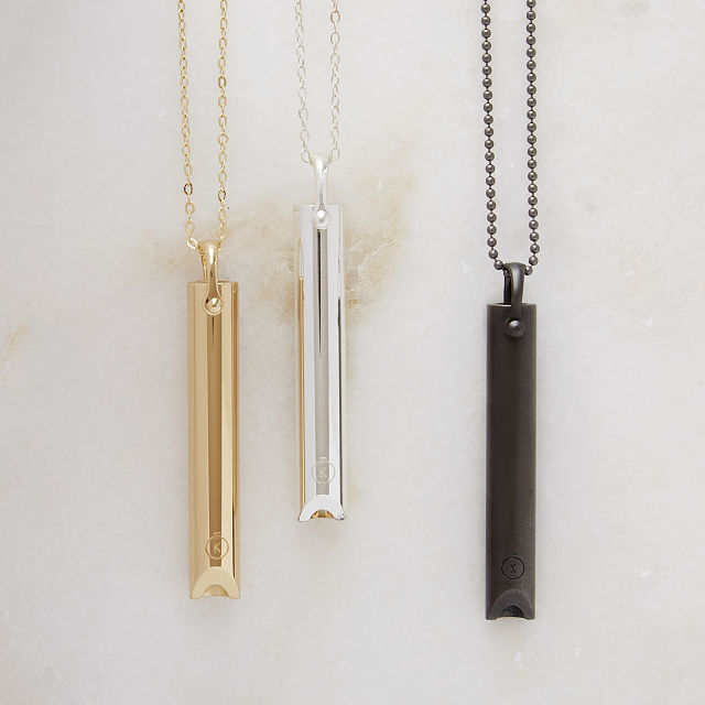 Mindful Breathing Necklace | Uncommon Goods
