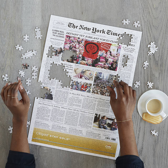 New York Times Custom Front Page Puzzle | Uncommon Goods