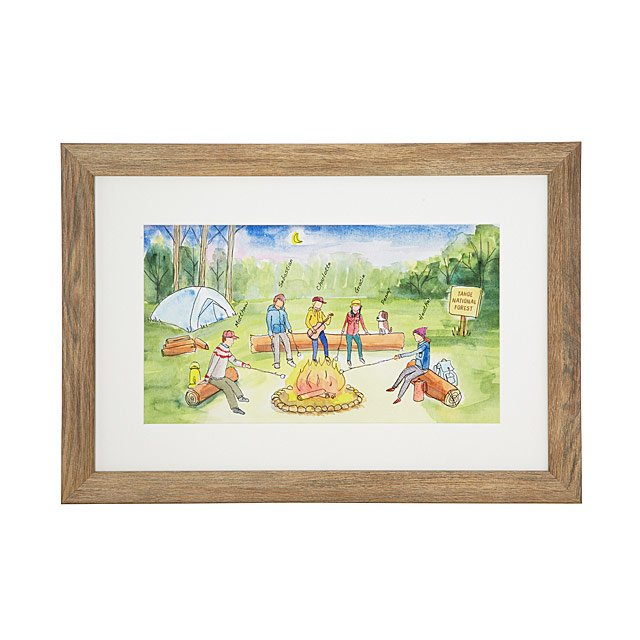 Personalized Campfire Family Art | Uncommon Goods