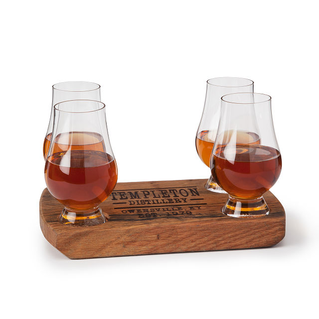 Personalized Bourbon Barrel Flight with Glasses | Uncommon Goods