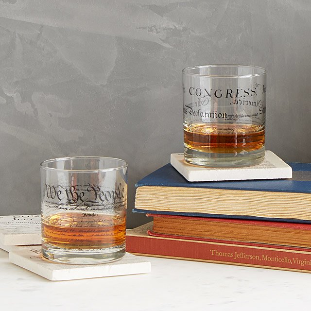 Constitution and Declaration Glasses | Uncommon Goods