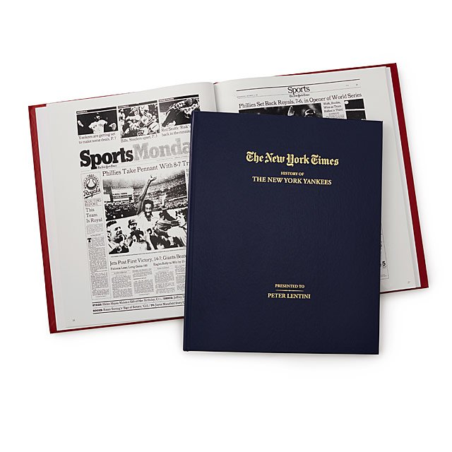 New York Times Custom Baseball Book | Uncommon Goods