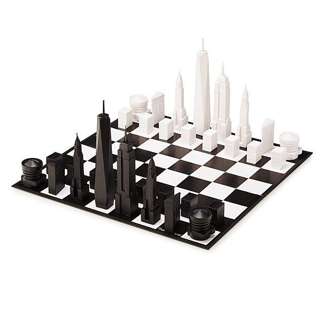 NYC Skyline Chess | Uncommon Goods
