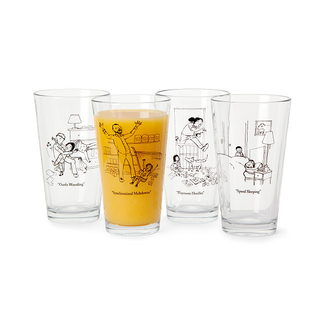 Parenting Championship Pint Glasses | Uncommon Goods