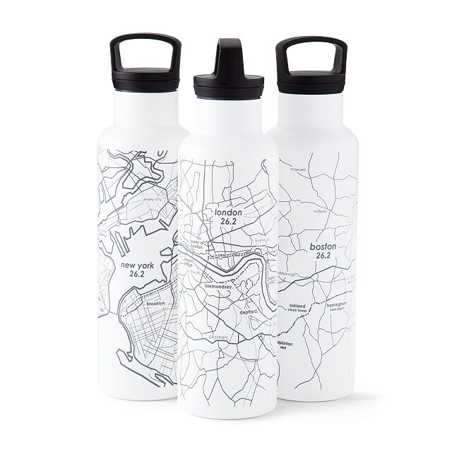 Marathon Map Hydration Bottles | Uncommon Goods