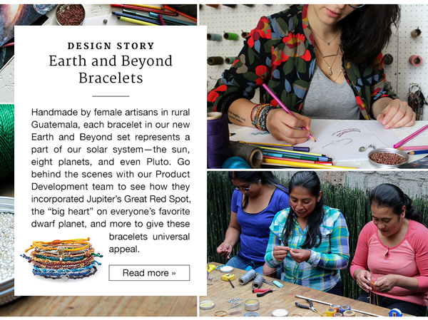 Design Story: Earth and Beyond Bracelets