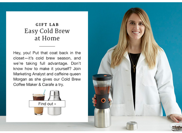 Gift Lab: Easy Cold Brew at Home
