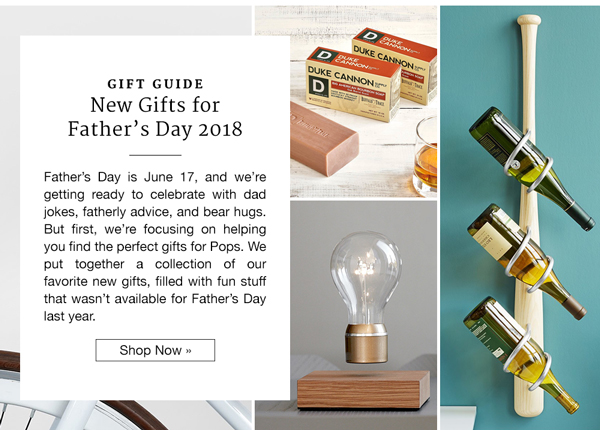 Gift Guide: New Gifts for Father's Day 2018