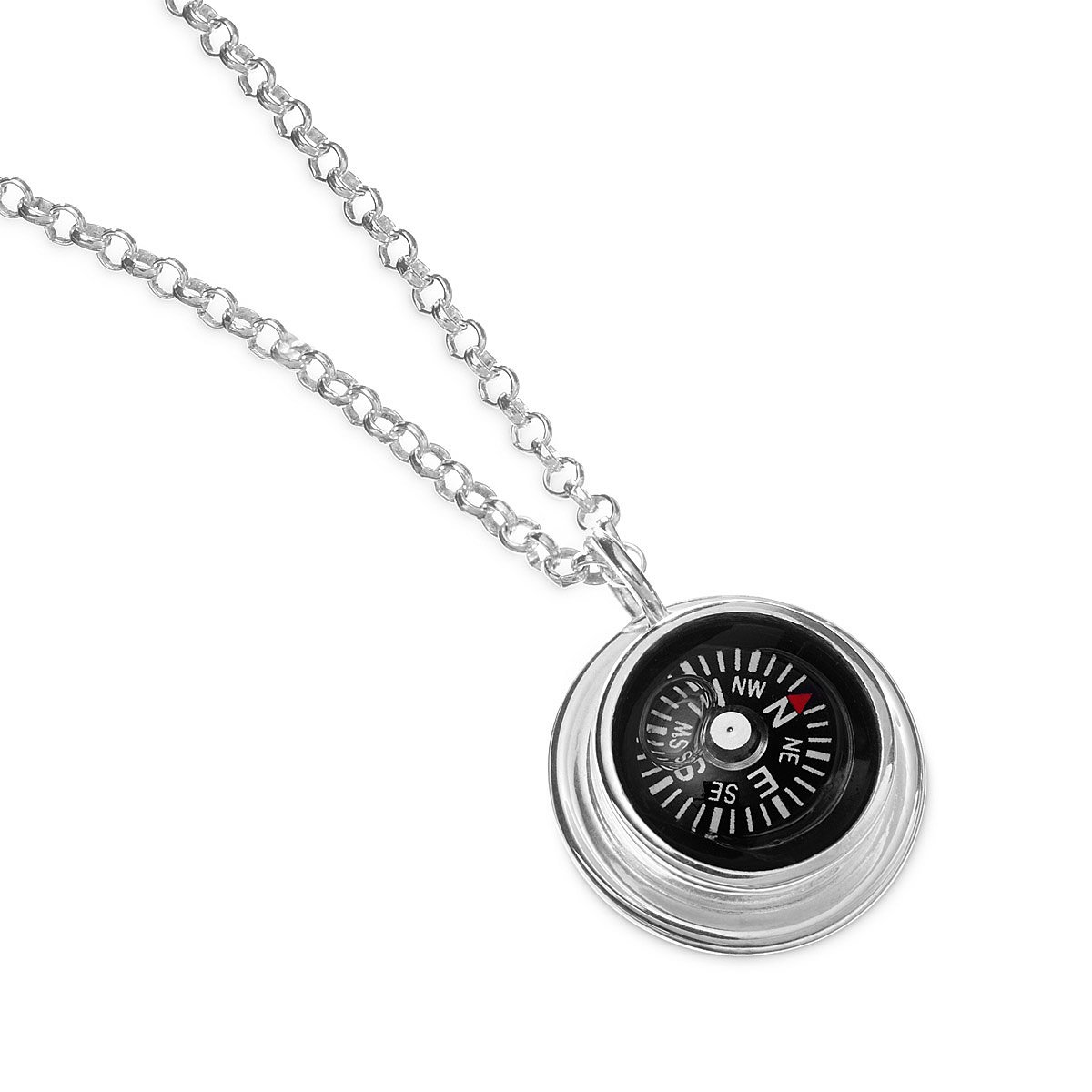 inscribed strong on products with compass women gold s graduation joshua reverse courageous womens necklace be