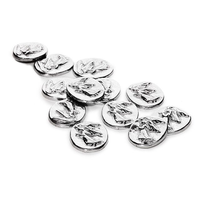 Pewter Angel Coins - Set of 12