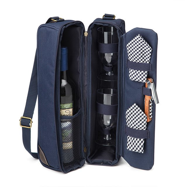 Sunset Wine Tote   Insulated Canvas Travel Case Set   UncommonGoods 68fd94feeb